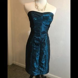 Zum Zum by Niki Livas Teal Cocktail Dress, size 3